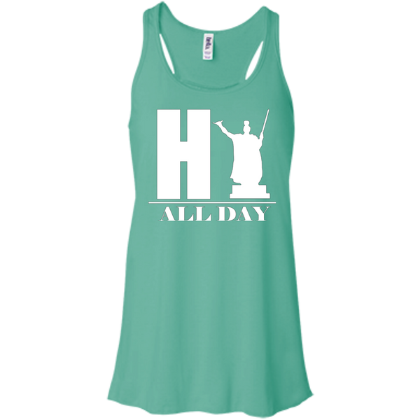 HI ALL DAY Bella+Canvas Flowy Racerback Tank, , Hawaii Nei All Day