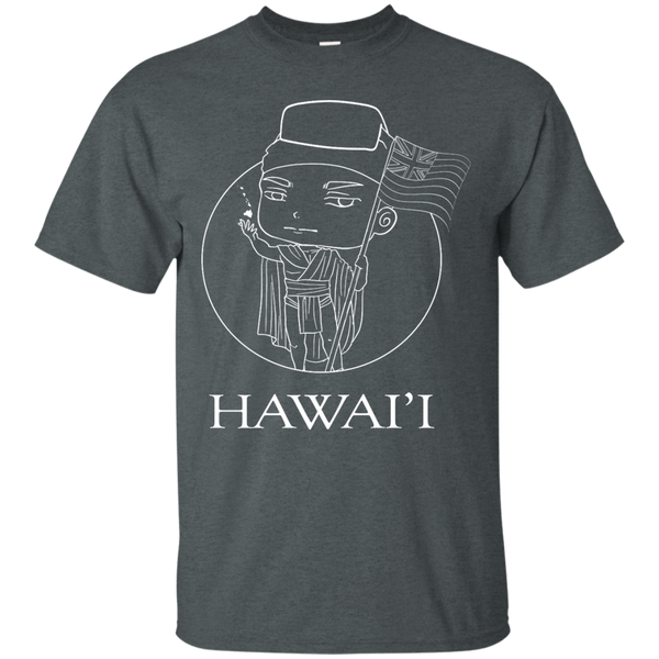 Hawai'i (chibi style King Kamehameha) Custom Ultra Cotton T-Shirt, Short Sleeve, Hawaii Nei All Day, Hawaii Clothing Brands