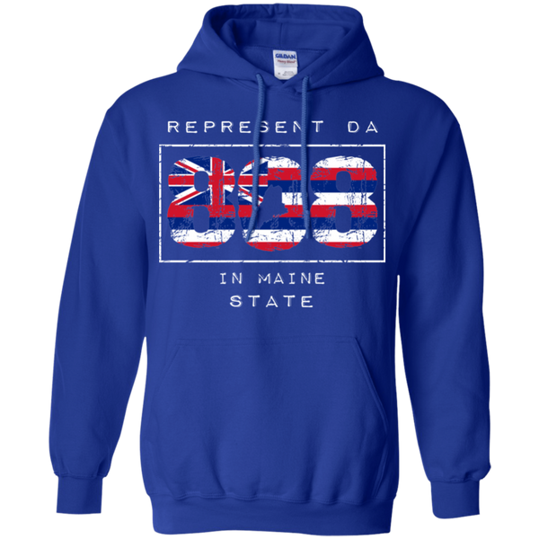 Rep Da 808 In Maine State Pullover Hoodie, Sweatshirts, Hawaii Nei All Day