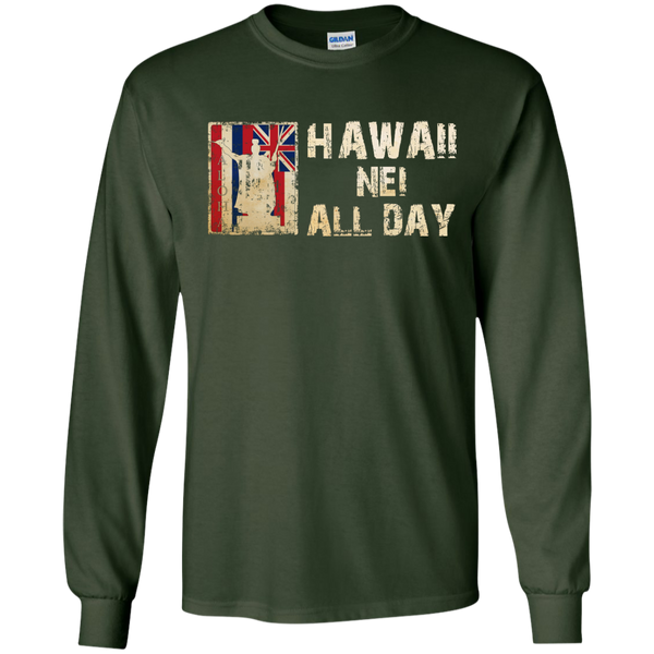 Hawaii Nei ALL DAY LS Ultra Cotton Tshirt, Long Sleeve, Hawaii Nei All Day, Hawaii Clothing Brands