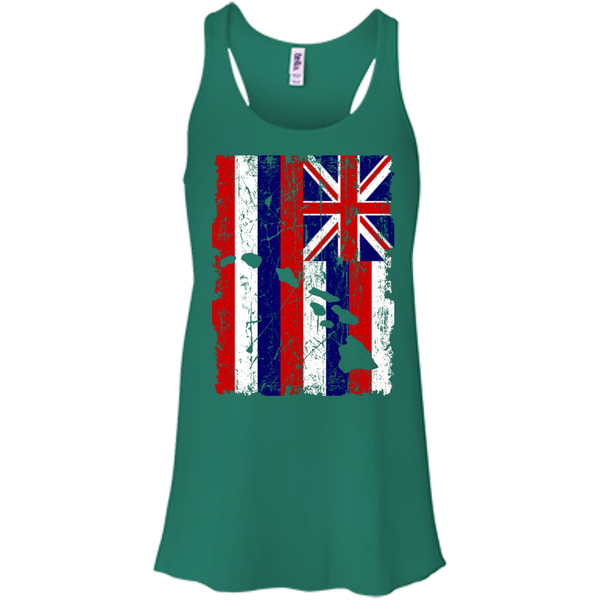 Hawaii - The Aloha State Bella+Canvas Flowy Racerback Tank, , Hawaii Nei All Day
