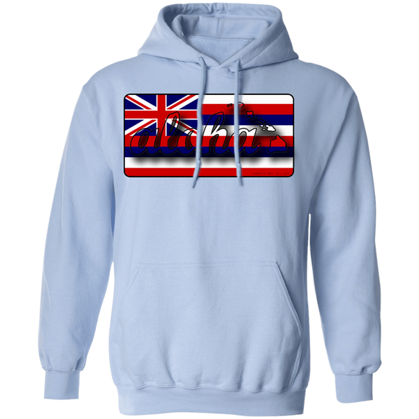 Aloha Hawaiian Islands Hawai'i Flag Pullover Hoodie, Sweatshirts, Hawaii Nei All Day