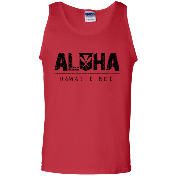 Aloha Hawai'i Nei 100% Cotton Tank Top, T-Shirts, Hawaii Nei All Day, Hawaii Clothing Brands
