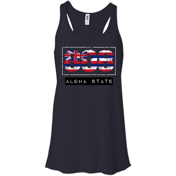 808 Aloha State Bella+Canvas Flowy Racerback Tank - Hawaii Nei All Day
