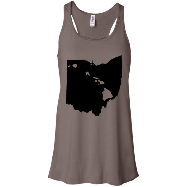 Living in Ohio with Hawaii Roots Bella + Canvas Flowy Racerback Tank, T-Shirts, Hawaii Nei All Day