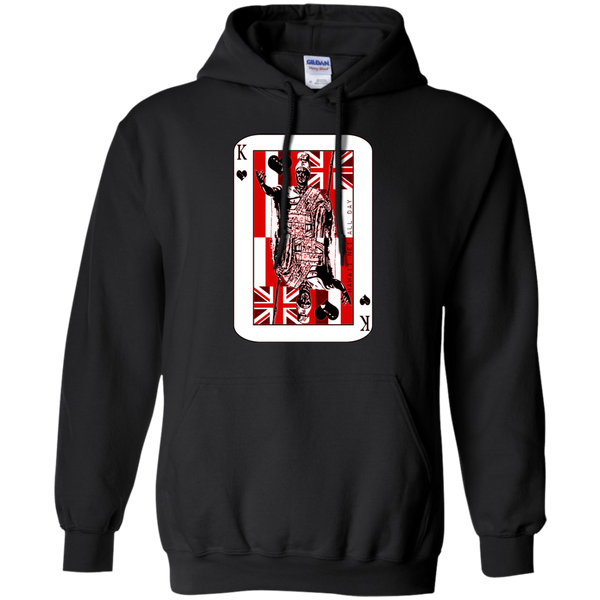 The King of Hawai'i Kamehameha (red ink) Pullover Hoodie, Sweatshirts, Hawaii Nei All Day