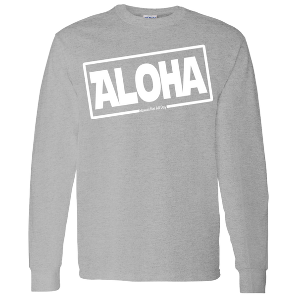 Aloha Hawai'i LS T-Shirt 5.3 oz., T-Shirts, Hawaii Nei All Day