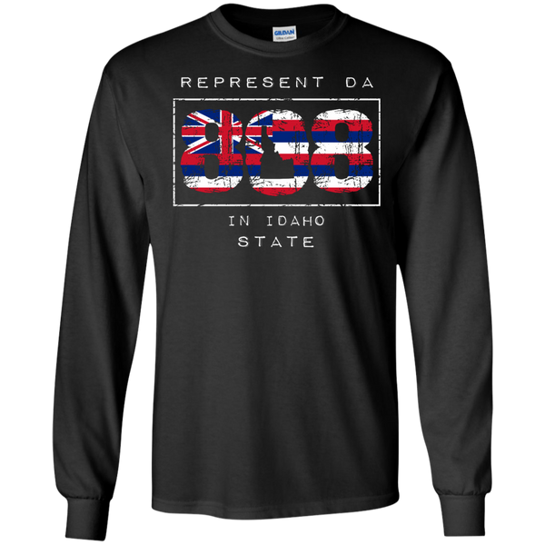 Represent Da 808 In Idaho State LS Ultra Cotton T-Shirt, T-Shirts, Hawaii Nei All Day