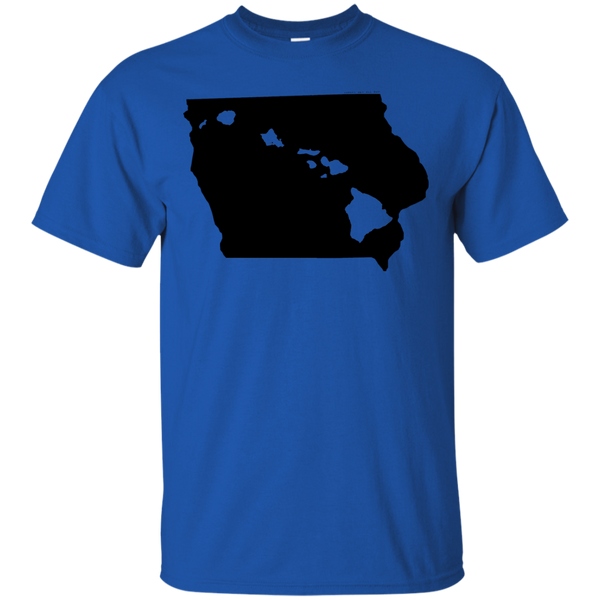 Living in Iowa with Hawaii Roots Ultra Cotton T-Shirt, T-Shirts, Hawaii Nei All Day