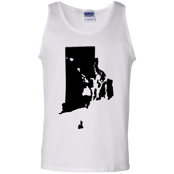Living in Rhode Island with Hawaii Roots 100% Cotton Tank Top, T-Shirts, Hawaii Nei All Day