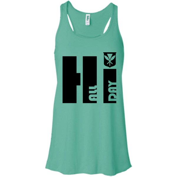 Hi All Day Bella + Canvas Flowy Racerback Tank, T-Shirts, Hawaii Nei All Day, Hawaii Clothing Brands