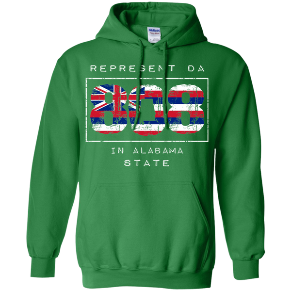 Rep Da 808 In Alabama State Pullover Hoodie 8 oz., Sweatshirts, Hawaii Nei All Day, Hawaii Clothing Brands