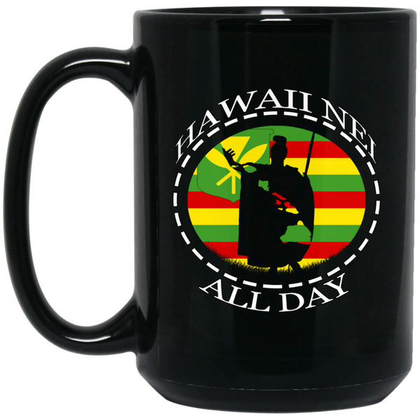 The Rising Sun Kanaka Maoli 15 oz. Black Mug, Drinkware, Hawaii Nei All Day