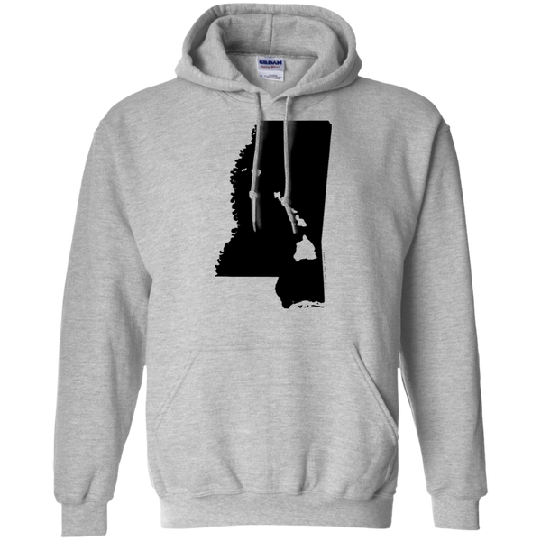 Living in Mississippi with Hawaii Roots Pullover Hoodie 8 oz., Sweatshirts, Hawaii Nei All Day, Hawaii Clothing Brands