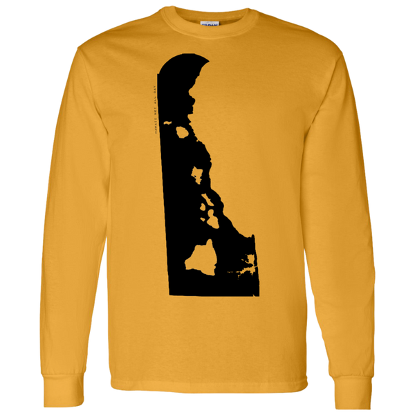 Living in Delaware with Hawaii Roots LS T-Shirt 5.3 oz., T-Shirts, Hawaii Nei All Day, Hawaii Clothing Brands