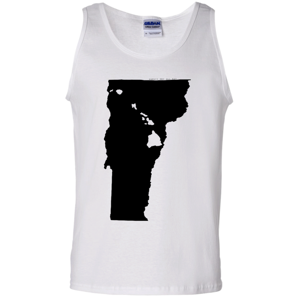 Living in Vermont with Hawaii Roots 100% Cotton Tank Top, T-Shirts, Hawaii Nei All Day, Hawaii Clothing Brands