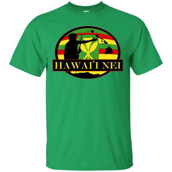 Hawai'i Nei Kanaka Maoli Custom Ultra Cotton T-Shirt, Short Sleeve, Hawaii Nei All Day, Hawaii Clothing Brands