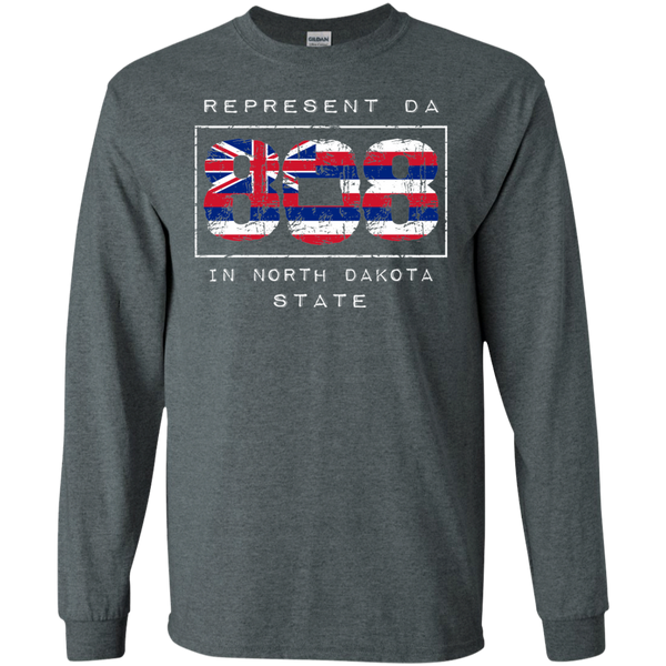 Rep Da 808 In North Dakota State LS Ultra Cotton T-Shirt, T-Shirts, Hawaii Nei All Day