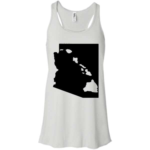 Living in Arizona with Hawaii Roots Bella + Canvas Flowy Racerback Tank, T-Shirts, Hawaii Nei All Day, Hawaii Clothing Brands