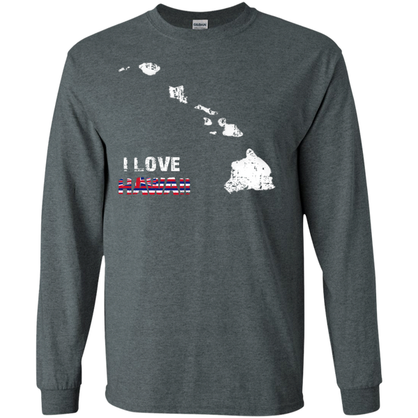 I Love Hawaii(islands) LS Ultra Cotton Tshirt, Long Sleeve, Hawaii Nei All Day, Hawaii Clothing Brands