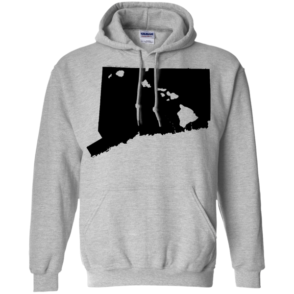 Living in Connecticut with Hawaii Roots Pullover Hoodie, Sweatshirts, Hawaii Nei All Day