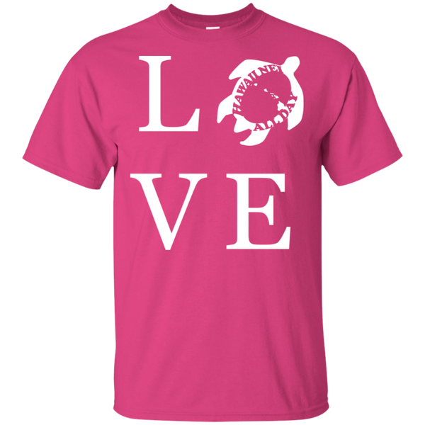 Honu LOVE (white) Ultra Cotton T-Shirt, T-Shirts, Hawaii Nei All Day