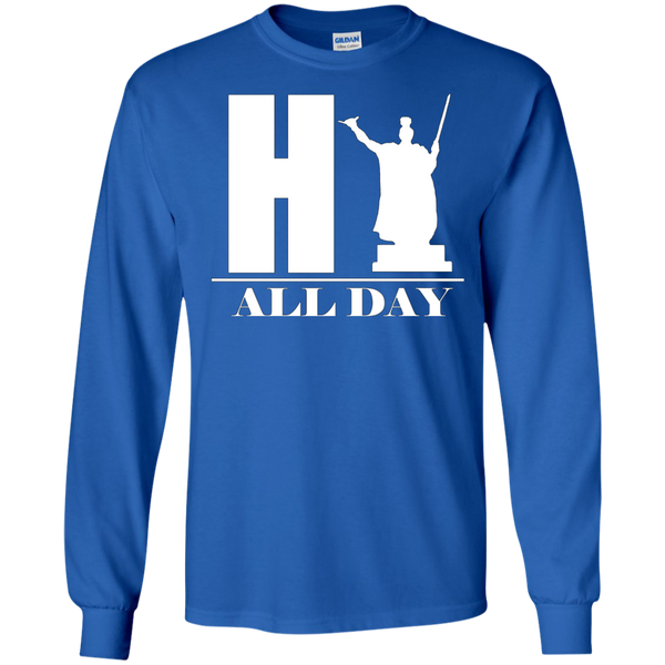 HI ALL DAY LS Ultra Cotton Tshirt - Hawaii Nei All Day