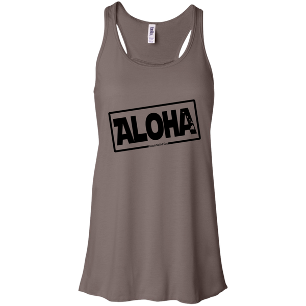 Aloha Hawai'i Nei (Islands blk ink) Racerback Tank, T-Shirts, Hawaii Nei All Day