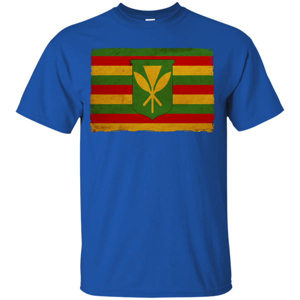 Kanaka Maoli Flag Youth Custom Ultra Cotton Tee, T-Shirts, Hawaii Nei All Day