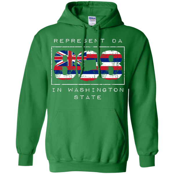 Represent Da 808 In Washington State Pullover Hoodie, Hoodies, Hawaii Nei All Day