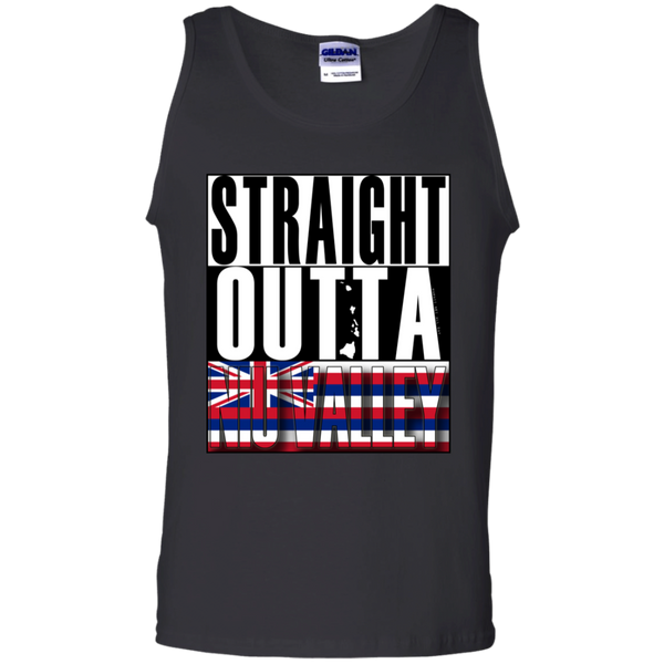 Straight Outta Niu Valley Hawai'i 100% Cotton Tank Top, T-Shirts, Hawaii Nei All Day