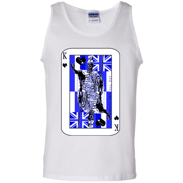 The King of Hawai'i Kamehameha (blue ink) 100% Cotton Tank Top