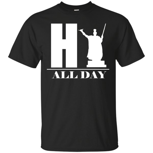 HI ALL DAY Custom Ultra Cotton T-Shirt, Short Sleeve, Hawaii Nei All Day