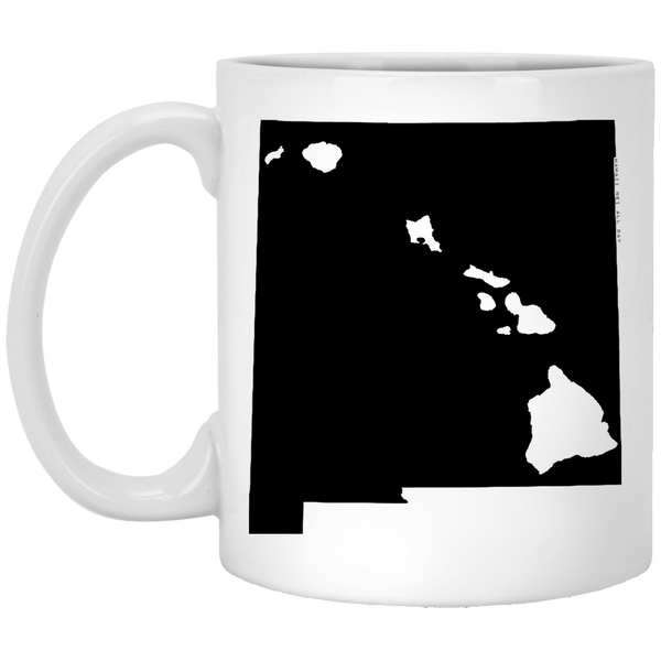 New Mexico and Hawaii Roots White Mug, Apparel, Hawaii Nei All Day
