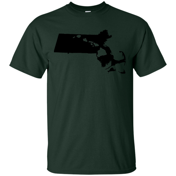 Living in Massachusetts with Hawaii Roots Ultra Cotton T-Shirt, T-Shirts, Hawaii Nei All Day, Hawaii Clothing Brands