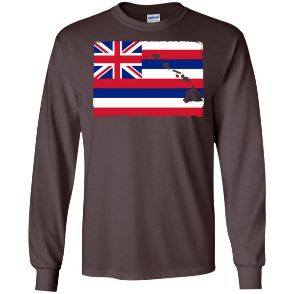 Hawai'i Aloha State Flag LS Ultra Cotton T-Shirt, T-Shirts, Hawaii Nei All Day