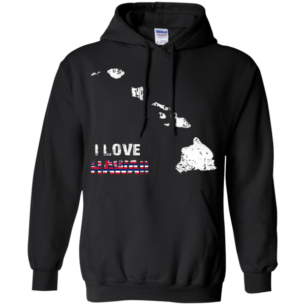 I Love Hawaii(islands) Pullover Hoodie 8 oz, Hoodies, Hawaii Nei All Day, Hawaii Clothing Brands