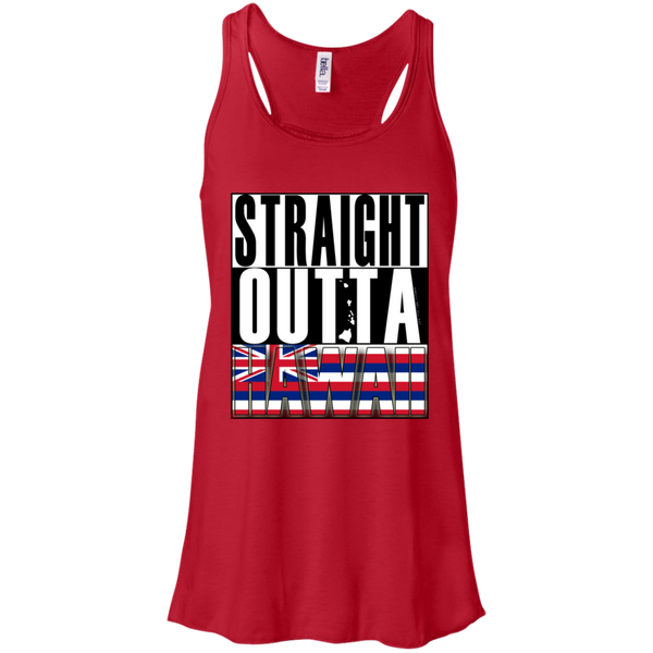 Straight Outta Hawaii Racerback Tank, T-Shirts, Hawaii Nei All Day