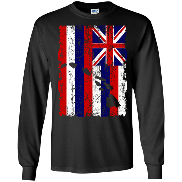Hawaii - The Aloha State LS Ultra Cotton Tshirt - Hawaii Nei All Day