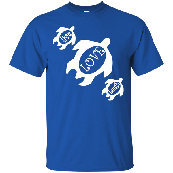 Live, LOVE, Laugh Honu Ultra Cotton T-Shirt, Short Sleeve, Hawaii Nei All Day