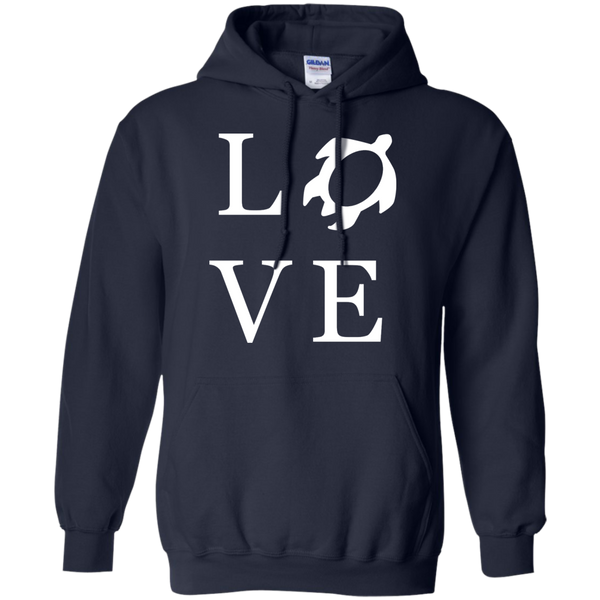 Honu LOVE Pullover Hoodie 8 oz, Hoodies, Hawaii Nei All Day, Hawaii Clothing Brands