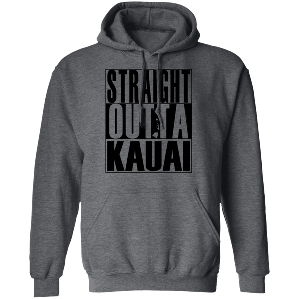 Straight Outta Kauai(black ink) Pullover Hoodie