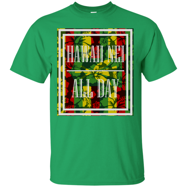 Hawai'i Floral Kanaka Maoli Ultra Cotton T-Shirt, T-Shirts, Hawaii Nei All Day