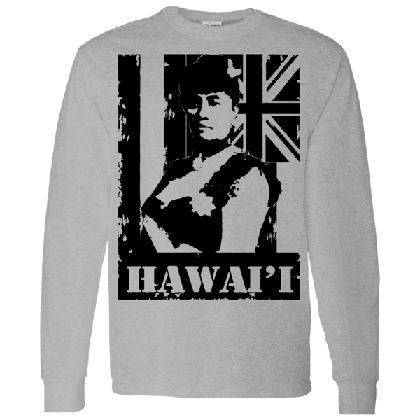 Hawai'i Queen Liliuokalani LS T-Shirt 5.3 oz., T-Shirts, Hawaii Nei All Day