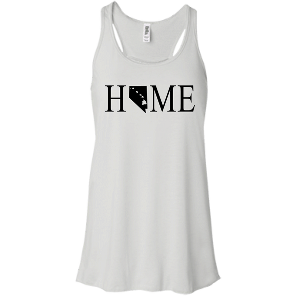 Home Hawaii & Nevada Bella + Canvas Flowy Racerback Tank