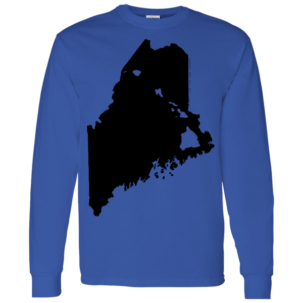 Living in Maine with Hawaii Roots LS T-Shirt 5.3 oz., T-Shirts, Hawaii Nei All Day, Hawaii Clothing Brands