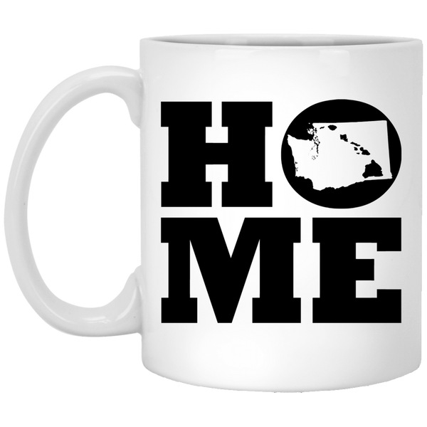 Home Roots Hawai'i and Washington White Mug, Apparel, Hawaii Nei All Day