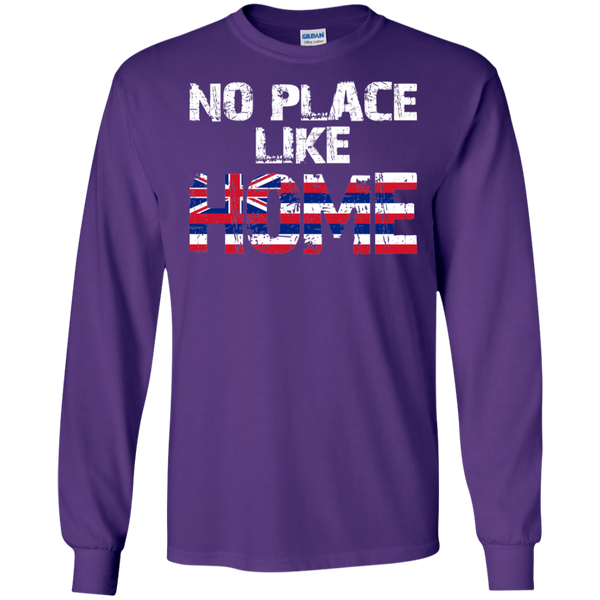 No Place Like HOME Hawai'i LS Ultra Cotton T-Shirt, T-Shirts, Hawaii Nei All Day