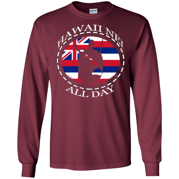The Rising Sun  LS Ultra Cotton T-Shirt, T-Shirts, Hawaii Nei All Day, Hawaii Clothing Brands