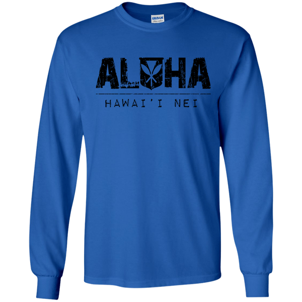 Aloha Hawai'i Nei LS Ultra Cotton T-Shirt, T-Shirts, Hawaii Nei All Day, Hawaii Clothing Brands